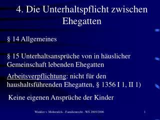 § 14 Allgemeines