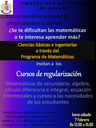 Cursos de regularización