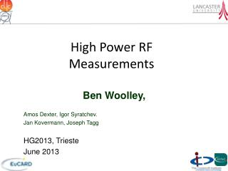 High Power RF Measurements