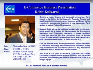 E-Commerce Business Presentation Rohit Kulkarni