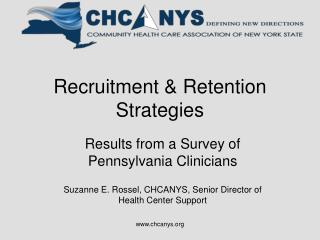 Recruitment & Retention Strategies