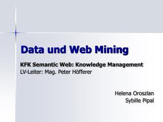Data und Web Mining