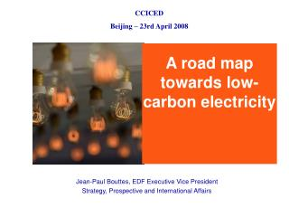 A road map towards low-carbon electricity