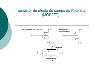 Transistor de efecto de campo de Potencia MOSFET
