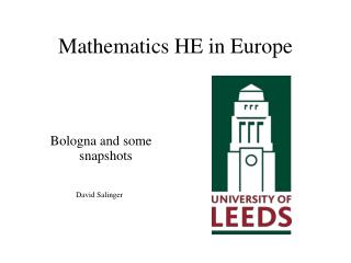 Mathematics HE in Europe