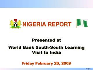 NIGERIA REPORT