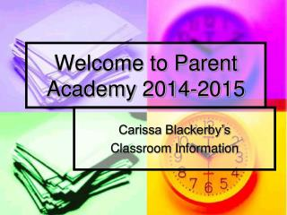 Welcome to Parent Academy 2014-2015