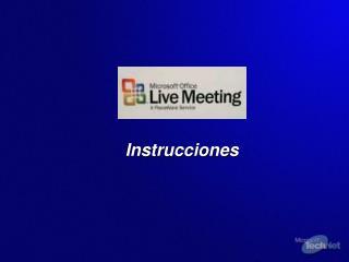 Optimice su vista de  Live Meeting