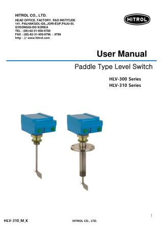 Paddle Type Level Switch