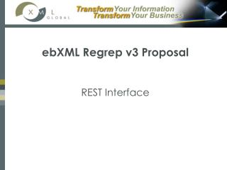 ebXML Regrep v3 Proposal