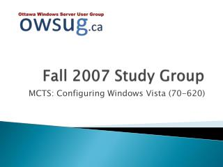 Fall 2007 Study Group