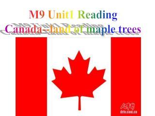M9 Unit1 Reading Canada--land of maple trees