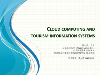 Cloud computing and tourism information systems