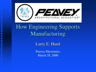 How Engineering Supports Manufacturing
