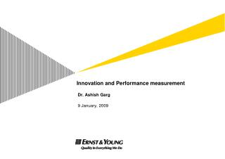 Innovation and Performance measurement