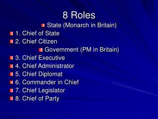8 Roles