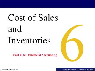 Cost of Sales and Inventories