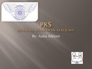 PKS ( patroli keamanan sekolah )