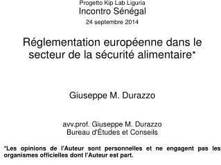 Progetto Kip Lab Liguria Incontro Sénégal 24 septembre 2014