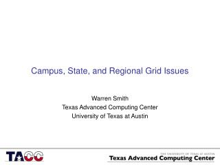 Campus, State, and Regional Grid Issues