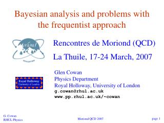 Bayesian analysis and problems with the frequentist approach
