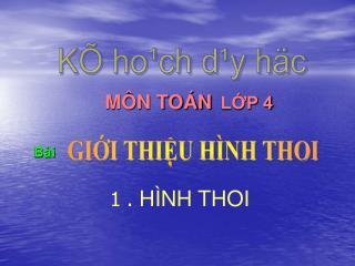 GI?I THI?U H�NH THOI