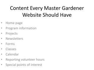 Content Every Master Gardener Website Should Have