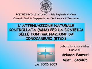 POLITECNICO DI MILANO - Polo Regionale di Como