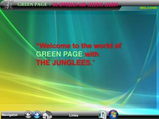 Navigator Links GREEN PAGE : WELCOME