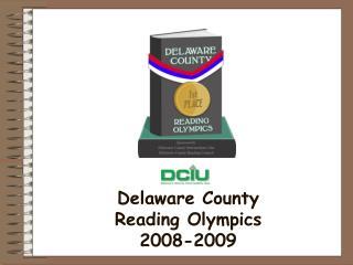 Delaware County  Reading Olympics  2008-2009