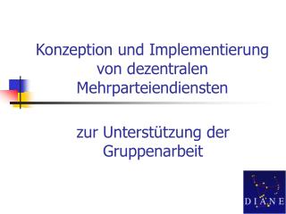 Konzeption und Implementierung von dezentralen Mehrparteiendiensten
