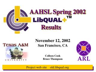 Project web site    old.libqual