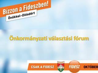 Önkormányzati választási fórum