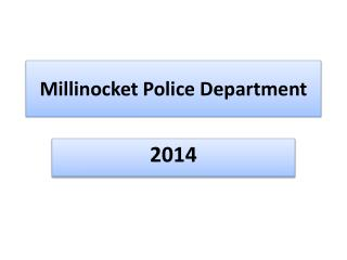 Millinocket Police Department