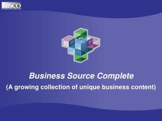 Business Source Complete (A growing collection of unique business content)