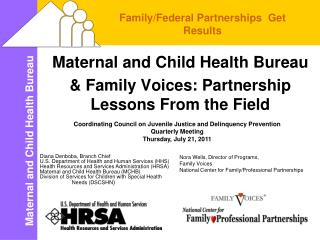 Maternal and Child Health Bureau  & Family Voices: Partnership Lessons From the Field