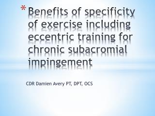 CDR Damien Avery PT, DPT, OCS