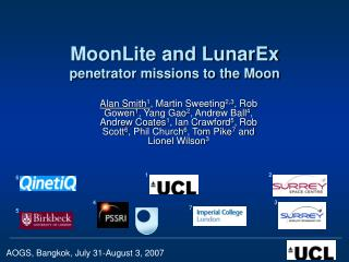 MoonLite and LunarEx  penetrator missions to the Moon
