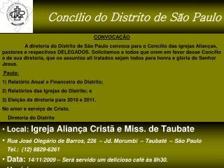 Concílio do Distrito de São Paulo