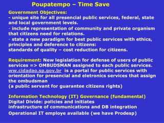 Poupatempo – Time Save