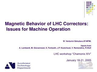 Magnetic Behavior of LHC Correctors:  Issues for Machine Operation