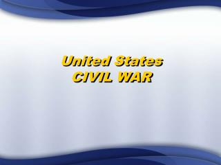 United States CIVIL WAR