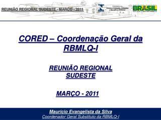 Mauricio Evangelista da Silva Coordenador Geral Substituto da RBMLQ-I