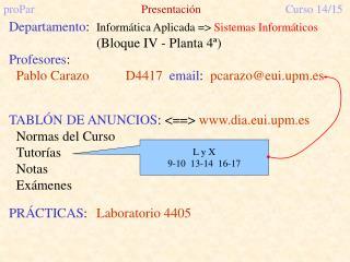 proPar Presentación Curso 14/15