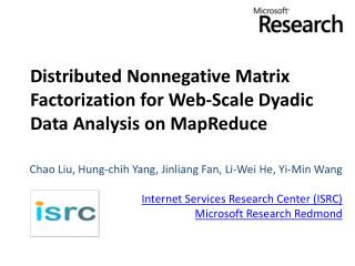 Distributed Nonnegative Matrix Factorization for Web-Scale Dyadic Data Analysis on  MapReduce