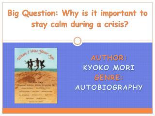 Author:   Kyoko Mori Genre:  Autobiography