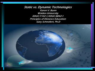 Technology /Media for Distance Education