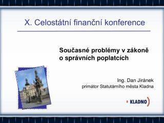 X. Celostátní finanční konference