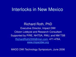 Interlocks in New Mexico