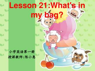 Lesson 21:What's in my bag?